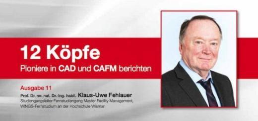 12 Köpfe: Prof. Klaus-Uwe Fehlauer zeigt auf, wie sich mit CAD und CAFM auch BIM realisieren lässt