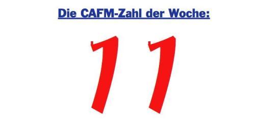 Die CAFM-Zahl der Woche ist die 11, weil elf Prozent des deutschen Stromverbrauchs durch Geräte im Standby verursacht werden.