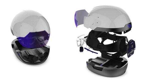 Mainboard, Kameras, Audiosystem - der Daqri-Helm ist umfangreich ausgestattet