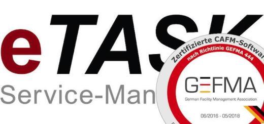 eTask hat seine CAFM-Software als erster Hersteller nach den jetzt 14 Katalogen der GEFMA 444 zertifizieren lassen