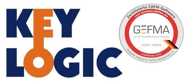 Auch die CAFM-Software KeyLogic ist erneut nach GEFMA 444 zertifiziert worden