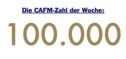 Die CAFM-Zahl der Woche ist die 100.000 - so viele Solarthermie-Anlagen wurden 2015 installiert