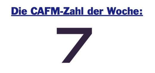 Die CAFM-Zahl der Woche ist die 7, denn so viele Richtlinien, Verordnungen & Co. können Einfluss nehmen auf die Flächenberechnung