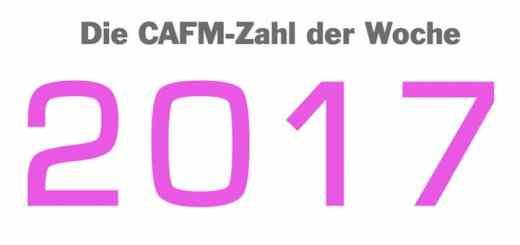 Die CAFM-Zahl der Woche ist die 2017, weil Zukunft vielversprechend ist