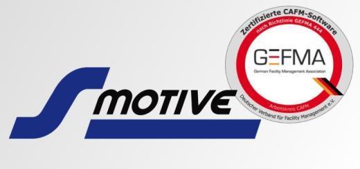 sMotive ist in allen 14 Katalogen der GEFMA 444 zertifiziert