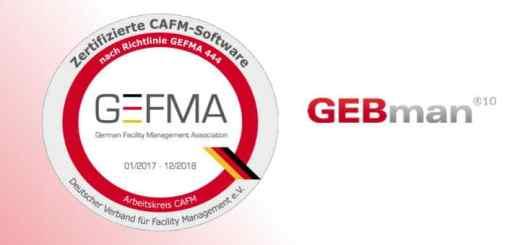 GEBman ist als erste CAFM-Software dieses Jahr nach den Kriterien der GEFMA 444 zertifiziert