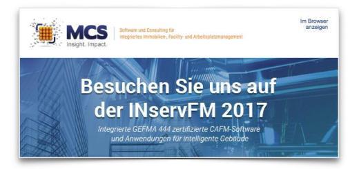MCS stellt auch dieses Jahr gemeinsam mit Reso Datamind auf der INservFM aus