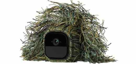 Kein grünes Mignon: Die neue Arlo Go kann auch in ein Tarnkleid gewandet werden und ist dann kaum noch zu finden