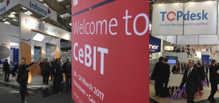 Große Präsentation, kleines CAFM: Axians Infoma und TOPdesk sind auch dieses JAhr auf derCeBIT mit eigenen Ständen vertreten (Fotos: CeBIT; CAFM-News)