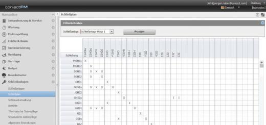 Mit den neuen Modul Schließanlagen für das Web-Portal von ConjectFM lassen sich Schließpläne komfortabel überwachen