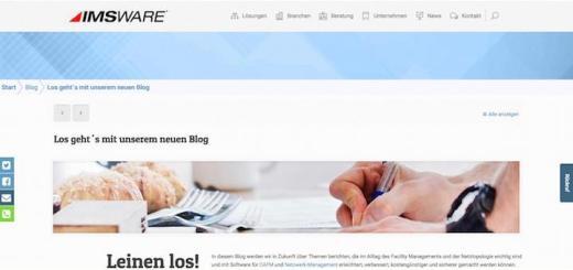 Auch auf der Website von IMS findet sich jetzt ein Blog