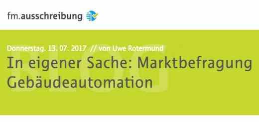 Gebäudeautomation und GLT – wer nutzt was tatsächlich? Und warum? – Das wollen FH Münster und Rotermund.Ingenieure mit ihrer Marktbefragung herausfinden