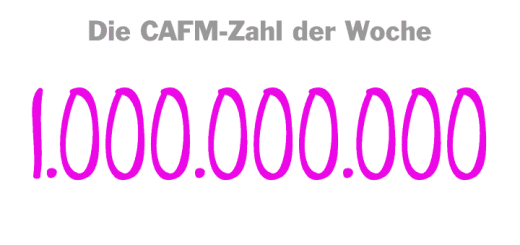 Die CAFM-Zahl der Woche ist eine Milliarde – die Schwelle in Euro, die vier deutsche FM-Dienstleister 2016 geknackt haben