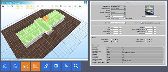 Daten und 3-D View sind in der BIM-Ansicht von FaMe zu haben