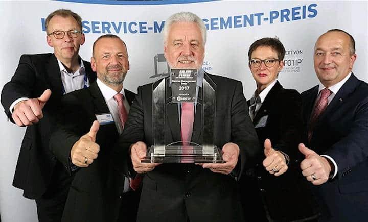 Freudige Gesichert: Das Service-Tool tele-LOOK hat den Service Management Preis gewonnen