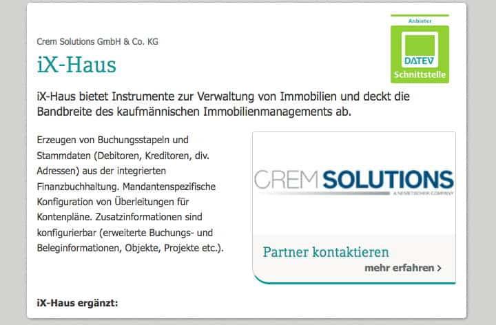 CREM-Solutions ist jetzt autorisierter Anbieter mit DATEV-Schnittstelle