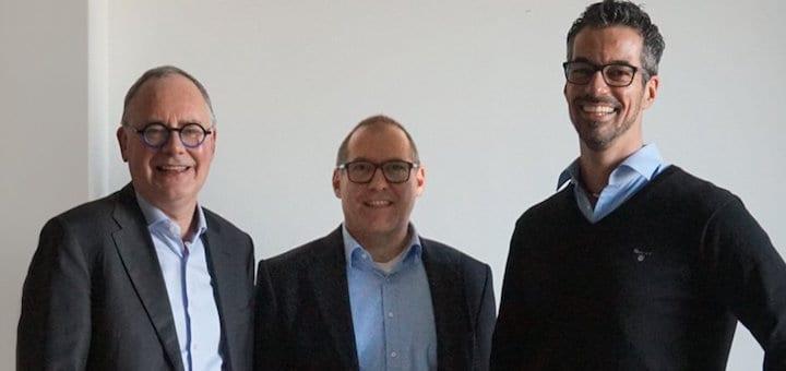 Haben gut Lachen: Planon-Gründer und CEO Pierre Guelen, Central Europe-Chef Stefan Mau und Frank Bögel, jetzt Leiter des Planon-Standorts Duisburg – der ehemaligen conjectFM.