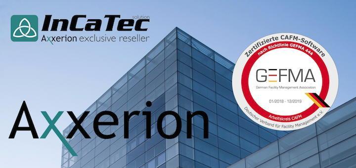 InCaTec Solutions hat als Exklusiv-Reseller von Axxerion die CAFM-Software erneut nach GEFMA 444 zertifizieren lassen
