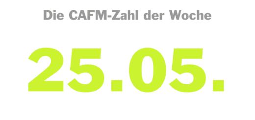 Die CAFM-zahl der Woche ist die 25.05. – das Datum, zu dem die DSGVO final in Kraft tritt