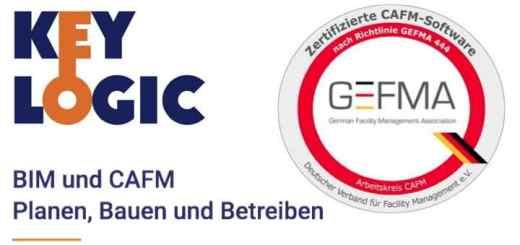 KeyLogic ist als erste CAFM-Software auch für den neuen Katalog A15 BIM-Datenverarbeitung der GEFMA 444 zertifiziert