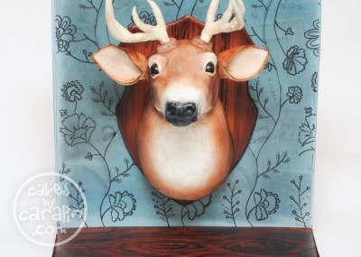 Wall-Mounted Deer Head Cake