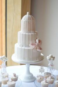 Blush Pink Birdcage Cake