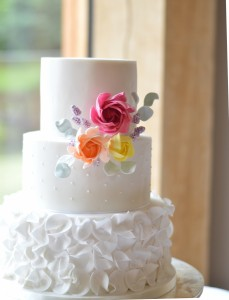 Brights wedding cake