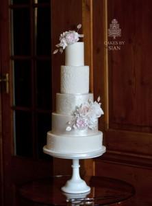 sparkle lace wedding cake