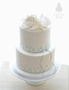 Water colour hand painted wedding cake
