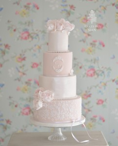 wedding cake blush lace