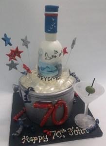 Grey Goose Bottle Cake, Ice Bucket Cake Portland OR, alcohol cake, vodka cake, adult birthday cake