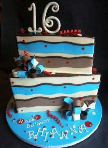 Whimsical Birthday Cake Slice Cake