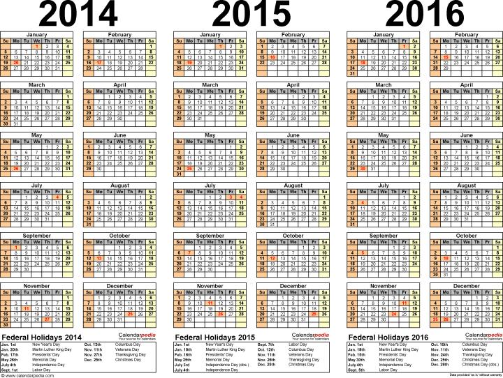 2016 Payday Calendar | Calendar Template 2016