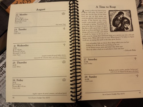 Llewelyn witches datebook