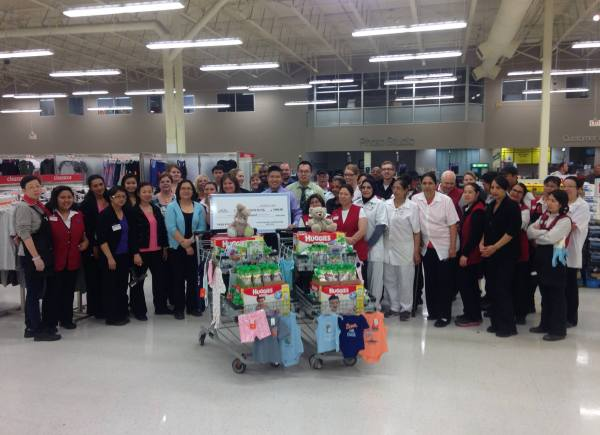 One morning in August, we joined in on an employee huddle at the Coventry Hills Superstore and we were blown away when they surprised us with carts full of our much needed items for our baby room, plus a big cheque!