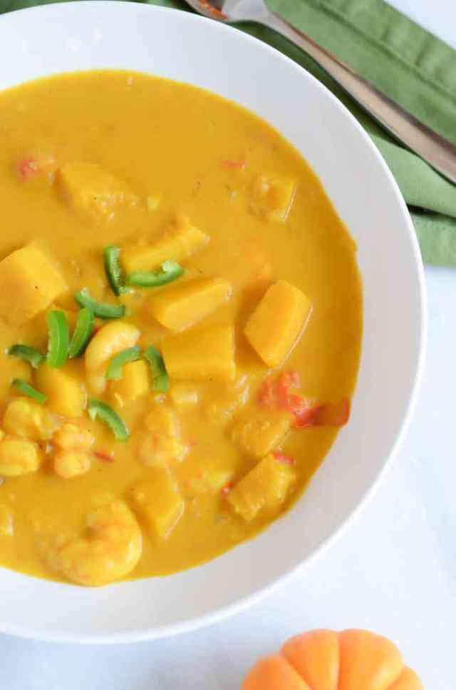 Double Pumpkin Curry with Shrimp | CaliGirlCooking.com