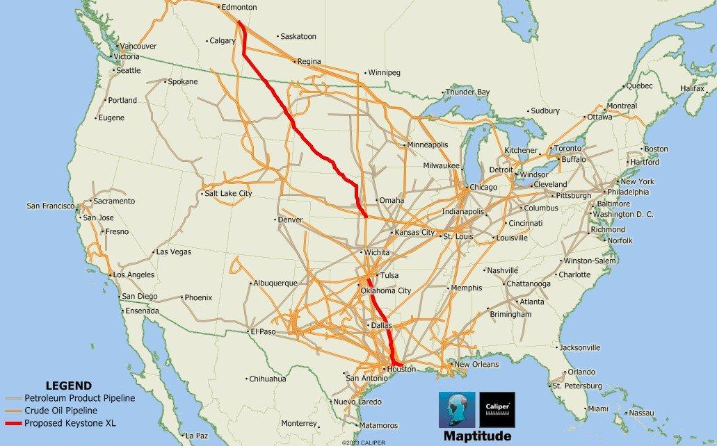 Gas Transmission And Hazardous Liquid Pipelines In The Us Map - Map of pipelines in the us
