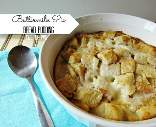 Buttermilk Pie Bread Pudding #dessert #breadpudding