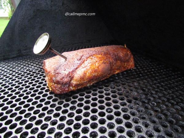 Stuffed smoked pork loin