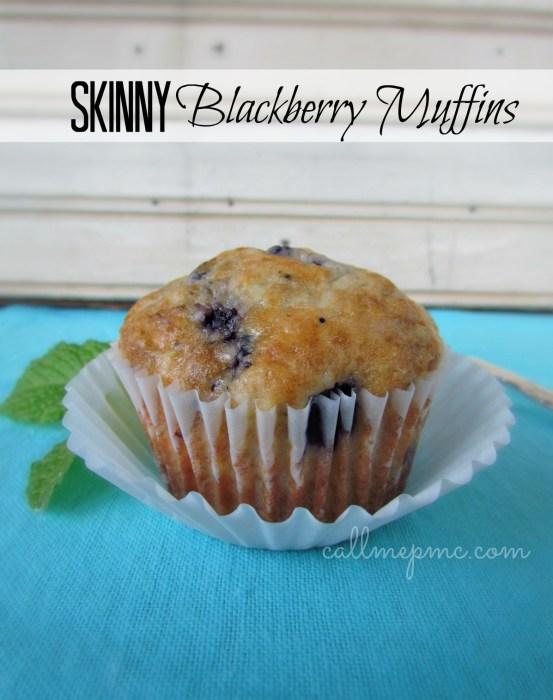 Skinny Blackberry Muffins www.callmepmc.com