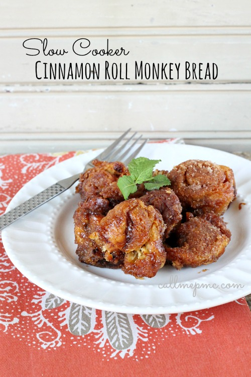 Slow Cooker Cinnamon Roll Monkey Bread httpwww.callmepmc.com