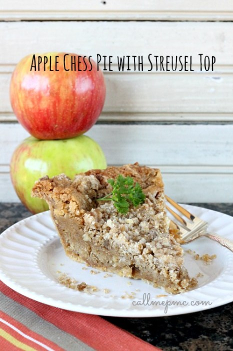 Apple Chess Pie Streusel Top #callmepmc