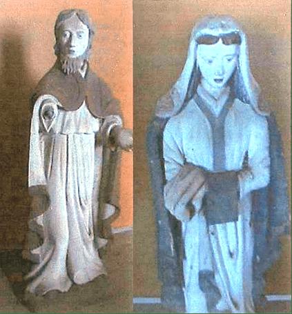 Les statues du calvaire ont été placées en lieu sûr.