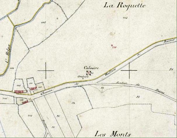 Cadastre de 1883 section B 112 P 31/ 793