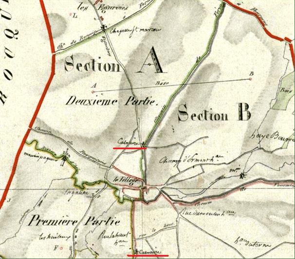 Partie du cadastre de 1823