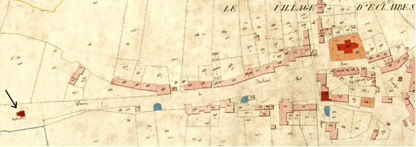 Plan cadastral 1845 section A 187 Bis.