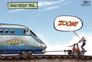 Cagle Cartoon High-Speed Rail