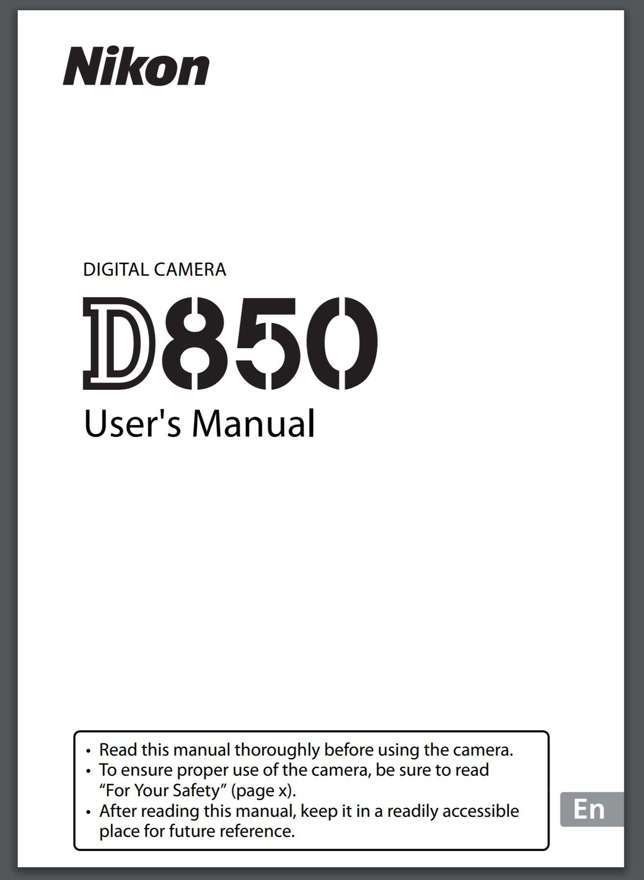 Fullsize Of Nikon D3400 Manual