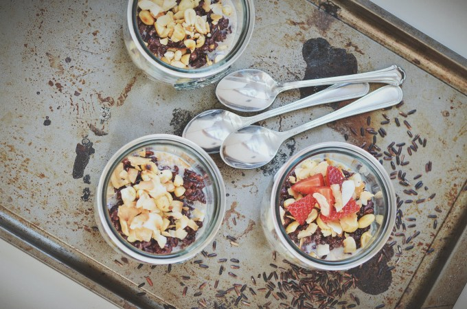 black rice coconut pudding