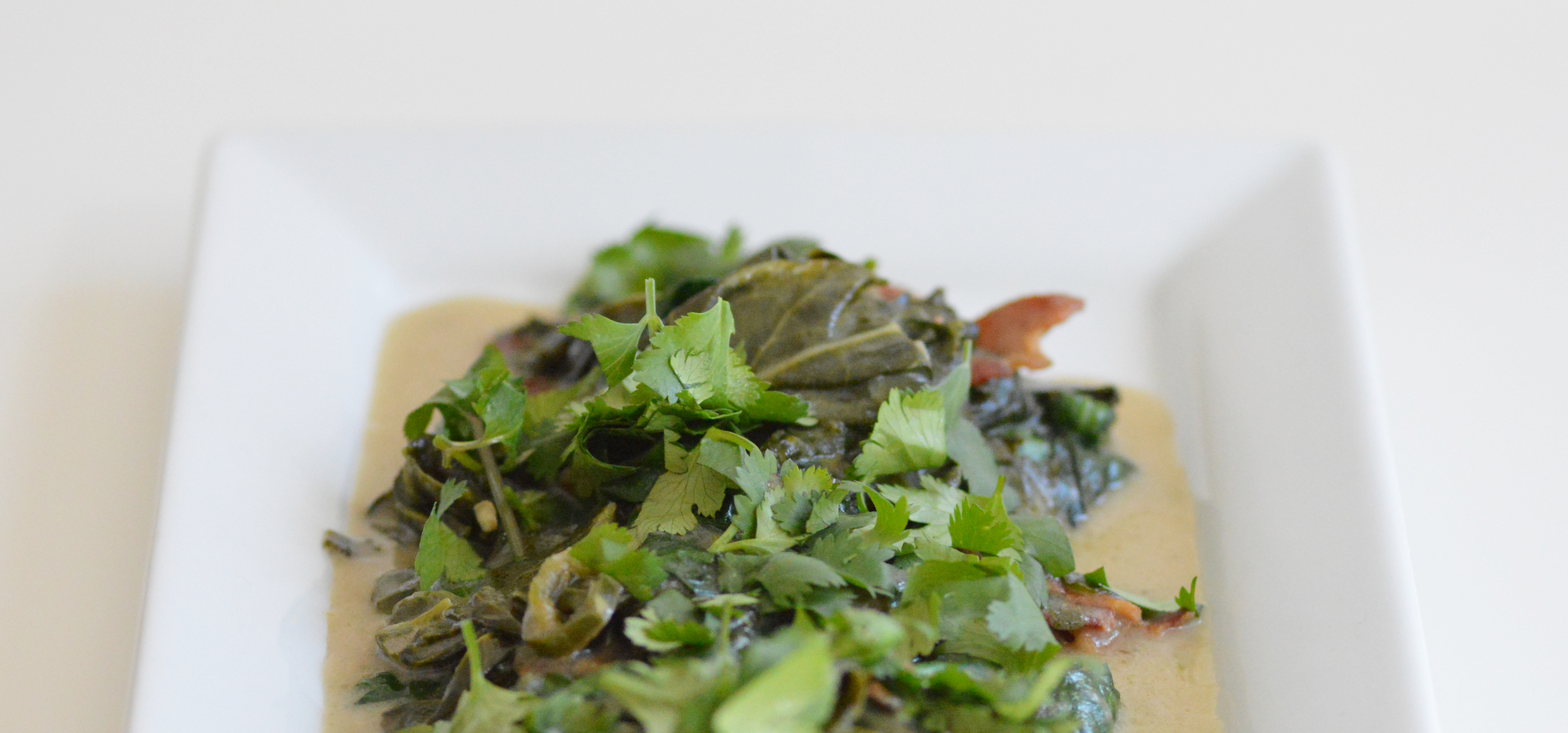 filipino spicy coconut collard greens and spinach (laing) | camille in ...